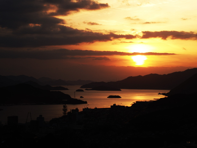 The evening landscape in Onomichi